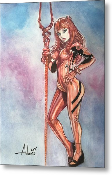 Asuka Langley Metal Print