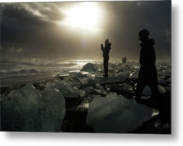 The Diamond Beach, Jokulsarlon, Iceland Metal Print