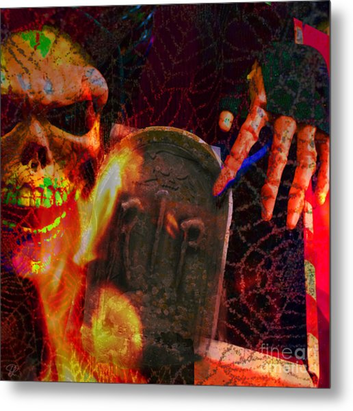 At Night In The Graveyard Metal Print