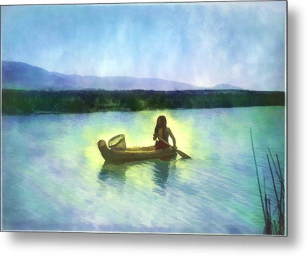 At Peace On The Water Metal Print