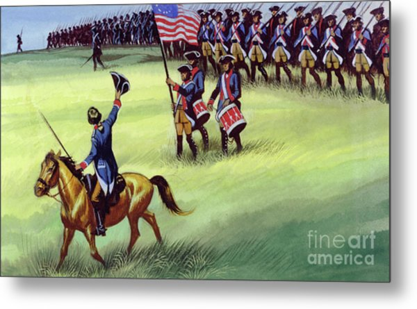 At Saratoga The Colonists Won Victory Metal Print