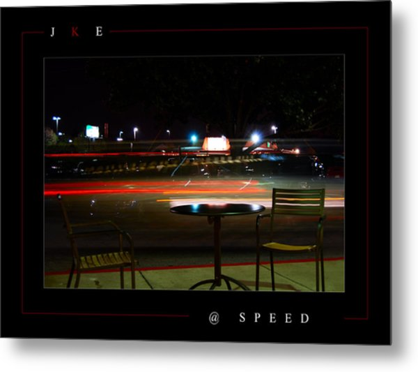 At Speed Metal Print by Jonathan Ellis Keys