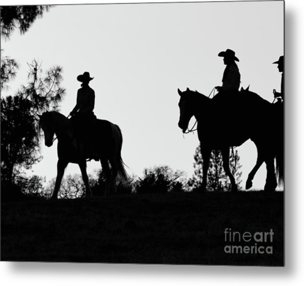 At Sunset On The Ranch Metal Print