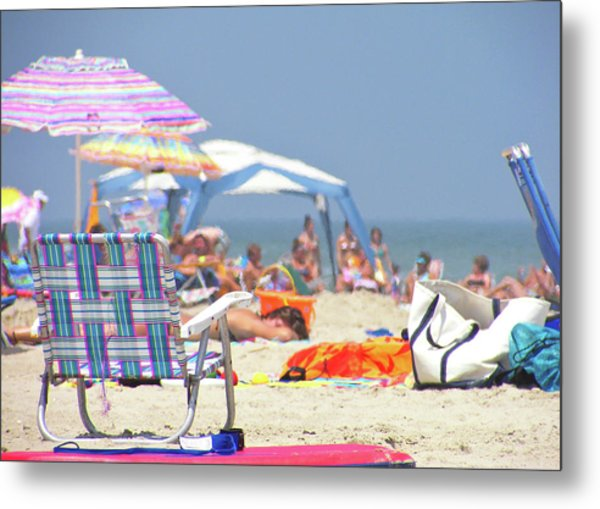 At The Beach Metal Print by JAMART Photography