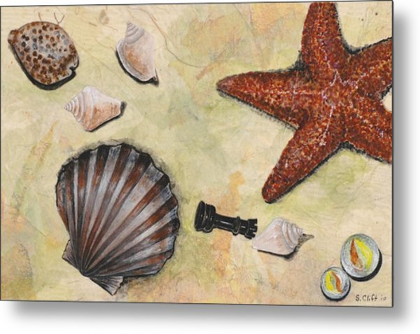 At The Beach Metal Print by Sandy Clift