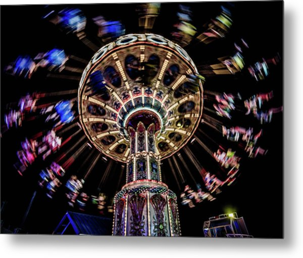 At The Boardwalk Metal Print by Mary D'Urso