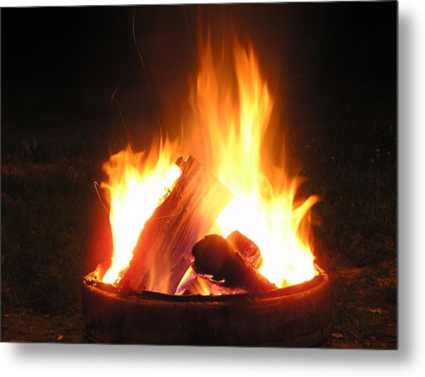 At The Campfire Metal Print by Richard Mitchell