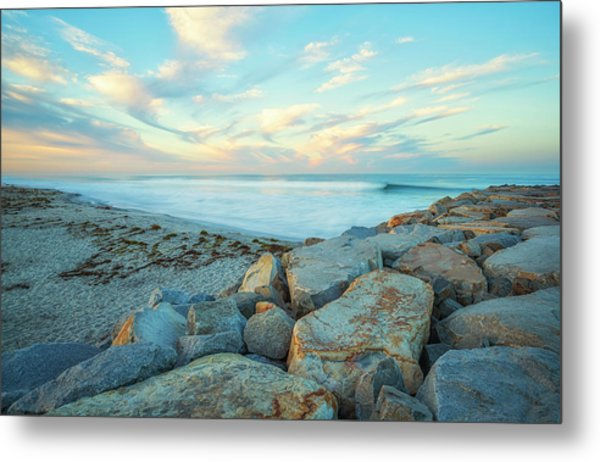 At The Corner Of Beach And Jetty Street Metal Print