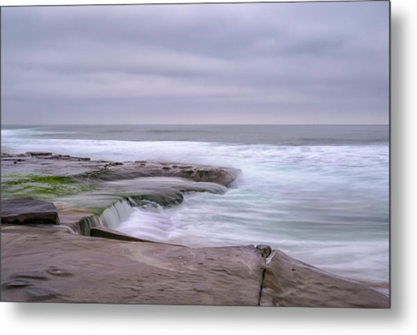 At The Edge Of The Sea Metal Print