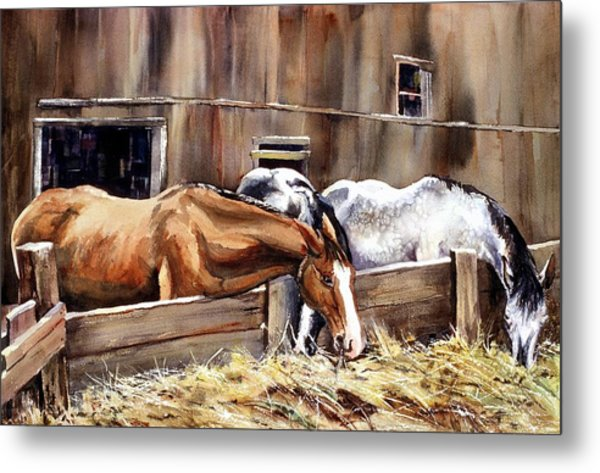 At The Feed Bank Metal Print