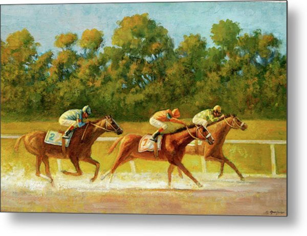 At The Finish Line Metal Print