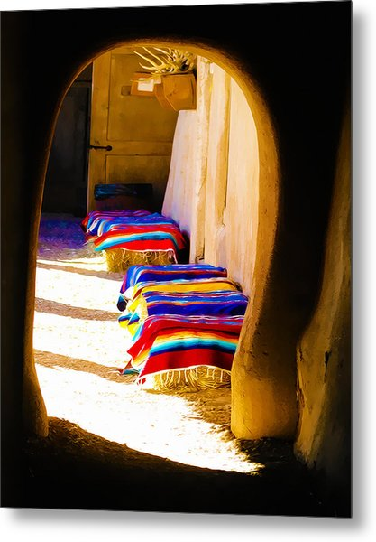 At The Hacienda Metal Print