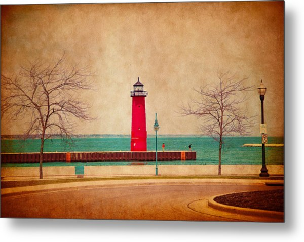 At The Harbor Metal Print