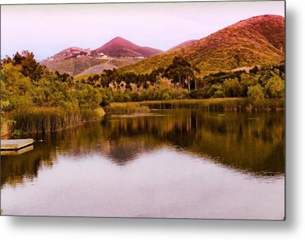 Metal Print featuring the photograph At The Lake by Alison Frank