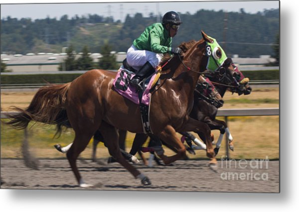 At The Races Metal Print by Ronald Hanson