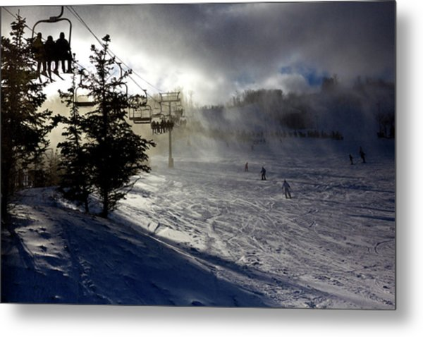 At The Ski Slope Metal Print