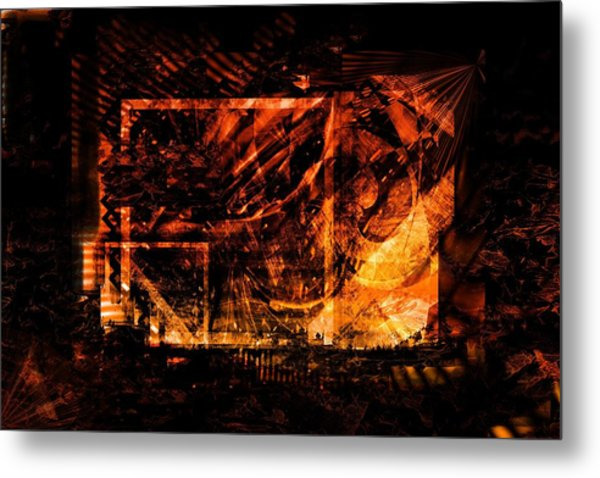 At The Theater Metal Print