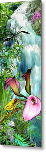 At The Waterfall Metal Print by Anne Weirich