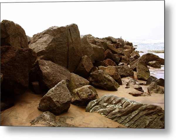 At Waters Edge Metal Print by Brenda Myers