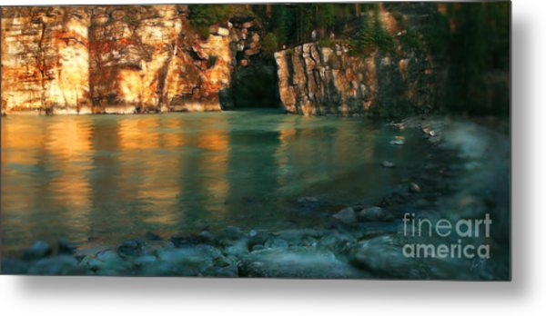 Athabasca At Sunset Metal Print