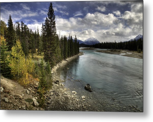 Metal Print featuring the photograph Athabasca River by John Gilbert