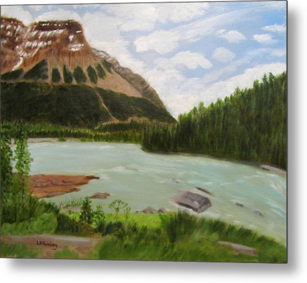 Metal Print featuring the painting Athabasca River by Linda Feinberg