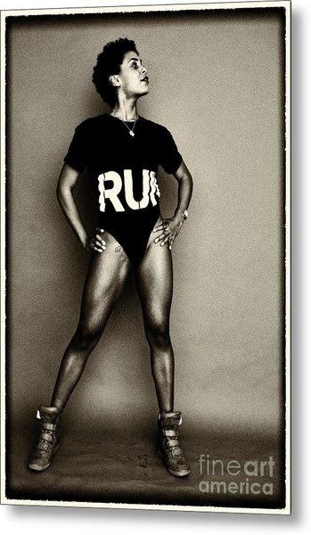 Athletic Woman Metal Print