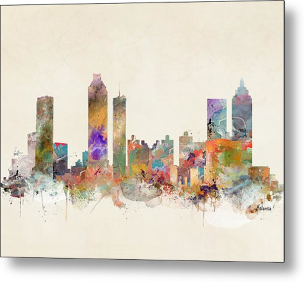 Atlanta City Skyline Metal Print