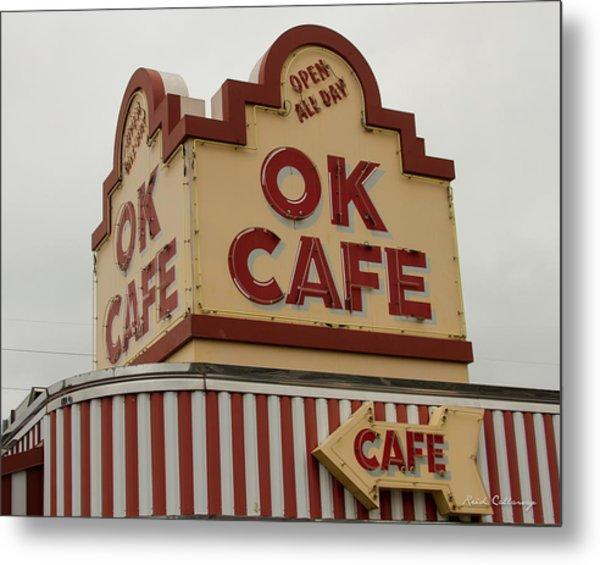 Atlanta Classic Ok Cafe Atlanta Restaurant Art Metal Print