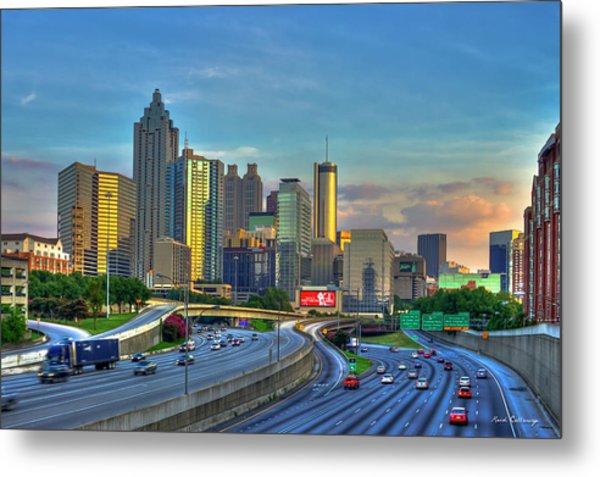 Atlanta Coca-cola Sunset Reflections Art Metal Print