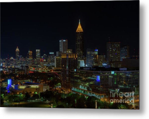 Atlanta Nights Metal Print