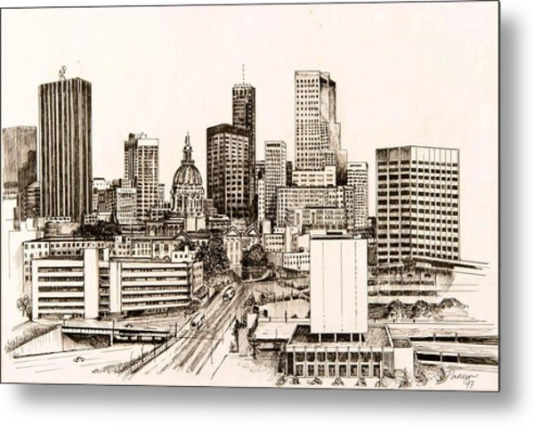 Atlanta Skyline Metal Print by Pamir Thompson