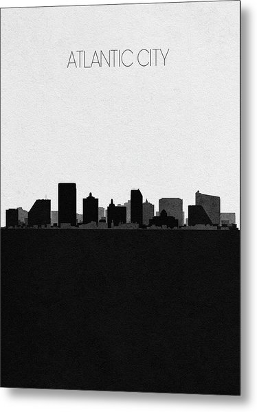 Atlantic City Cityscape Art Metal Print
