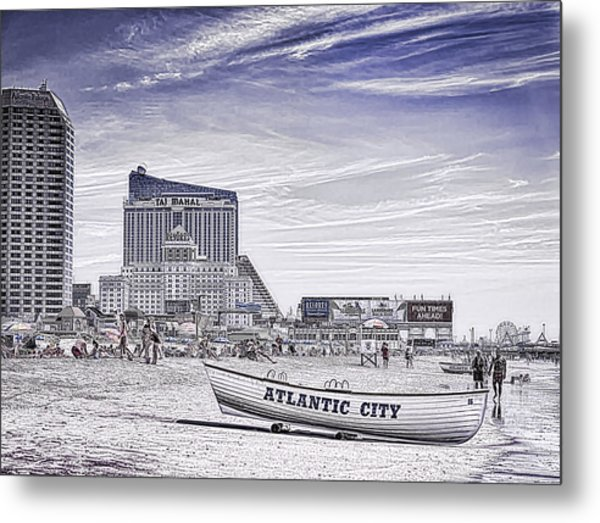 Metal Print featuring the photograph Atlantic City by Linda Constant