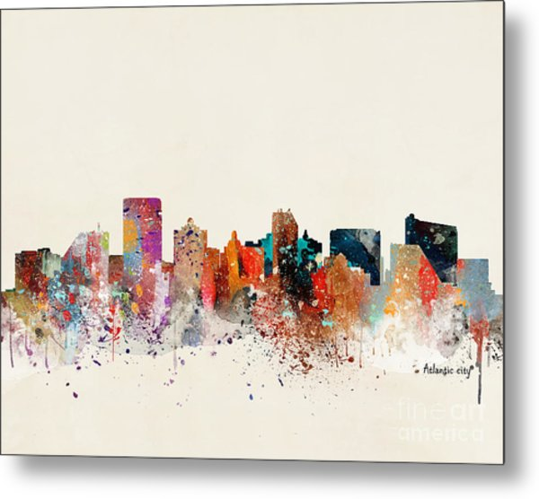 Atlantic City New Jersey Skyline Metal Print