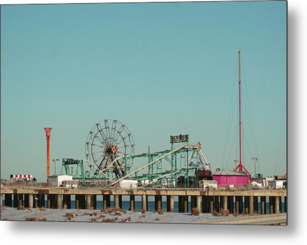 Atlantic City Steel Pier Amusements Metal Print