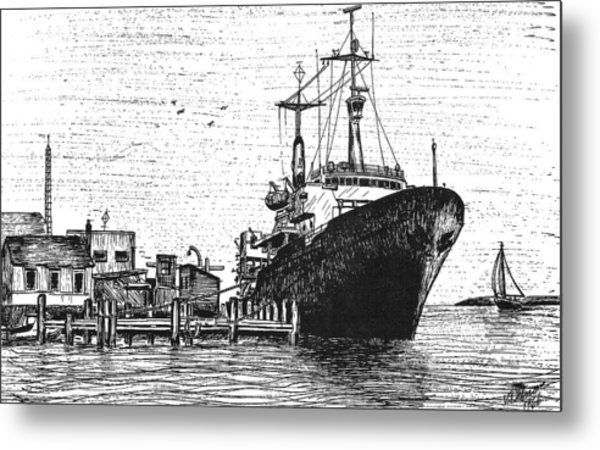 Atlantis II At Old Pier Metal Print