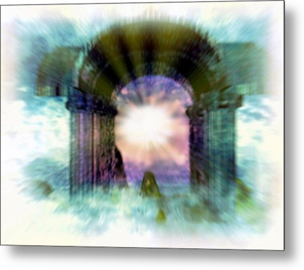 Atlantis Welcomes You Metal Print by Rebecca Phillips