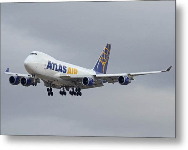 Atlas Air Boeing 747-47uf N415mc Phoenix Sky Harbor December 23 2015  Metal Print