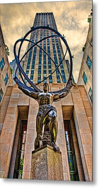 Atlas At The Rock Metal Print