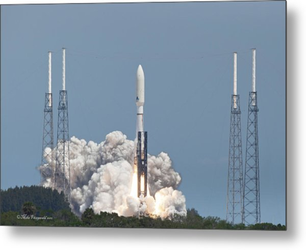 Atlas V Launch Metal Print