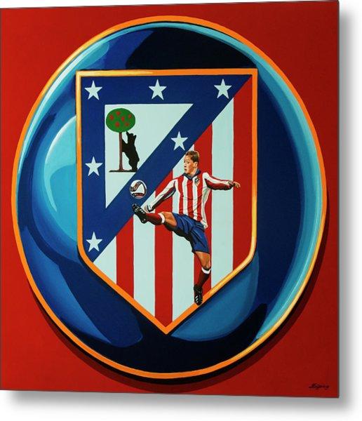 Atletico Madrid Painting Metal Print