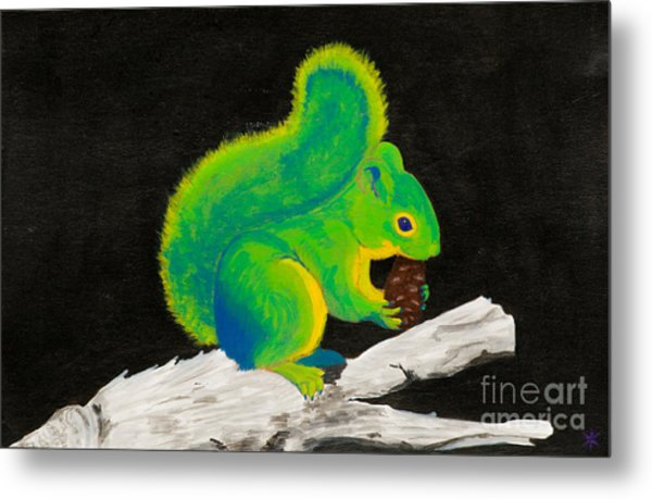Atomic Squirrel Metal Print