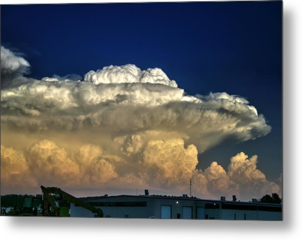 Atomic Supercell Metal Print