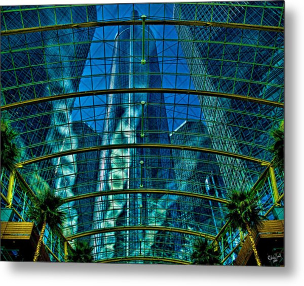 Atrium Gm Building Detroit Metal Print