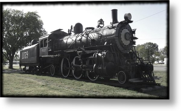 Atsf 2-6-2 Locomotive 1079 Diminished Metal Print