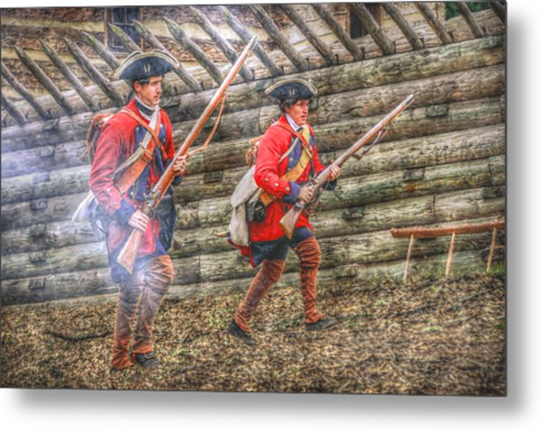 Attack On Fort Ligoner French And Indian War Metal Print by Randy Steele