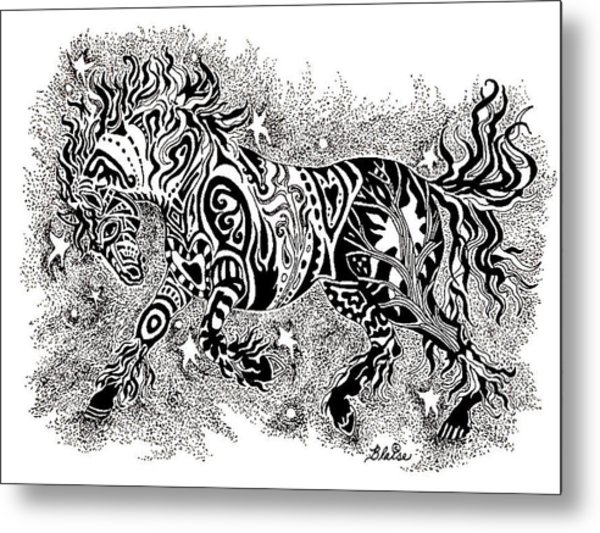 Attitude In Motion Metal Print