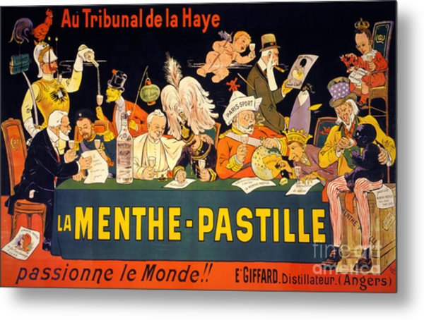 Au Tribunal De La Haye La Menthe Pastille Vintage Metal Print
