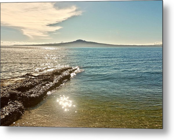 Auckland Harbour On A Winter's Afternoon Metal Print